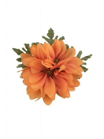 Claire Hair Flower Orange