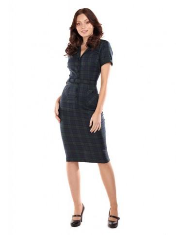 Caterina Blackwatch Check Pencil Dress