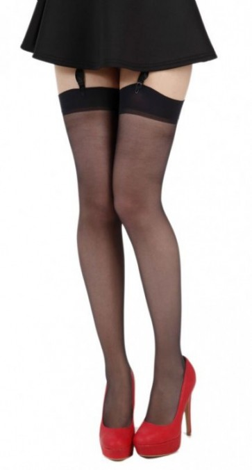 15 Denier Sheer Stockings Black