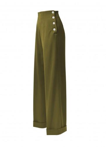 1940s Swing Trousers Khaki
