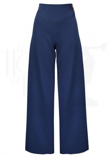 30s Riviera Yoke Pants Airforce Blue