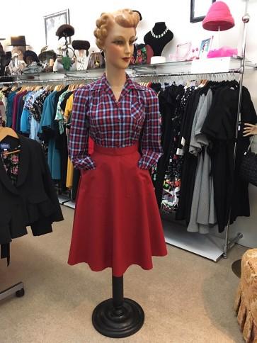 Betty Jo Skirt Red