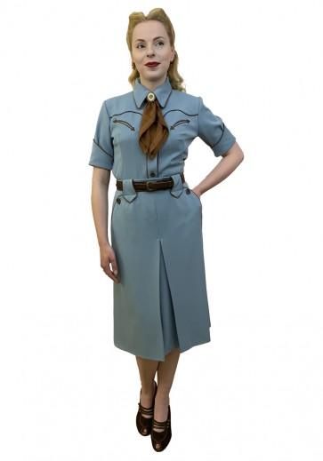 Lily-Mae Western Skirt Blue