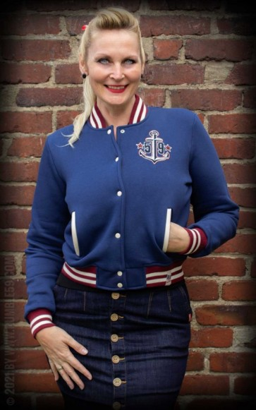 Ladies Sweat College Jacket Anchors Aweigh