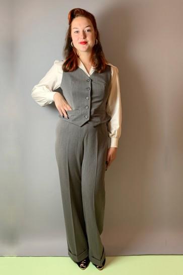 Garbo 1940s Swing Trousers Grey