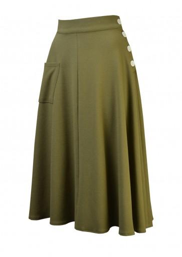 1940s Whirlaway Skirt Khaki