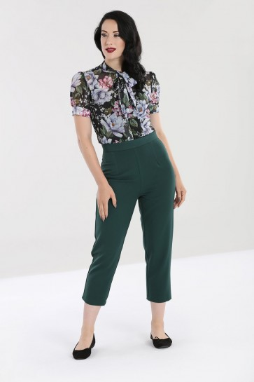Carlie Cigarette Trousers Dark Green