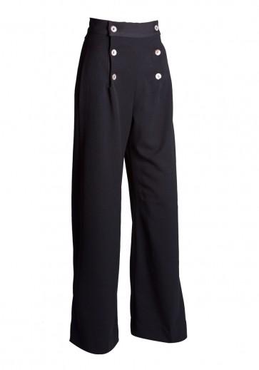 1930s Sailor Pants Black