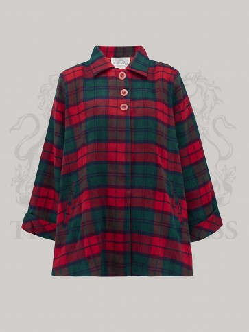 Swing Jacket Red Green Check