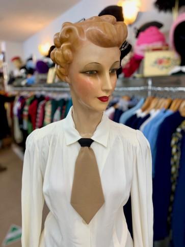 1930s / 1940s Style Plain Necktie