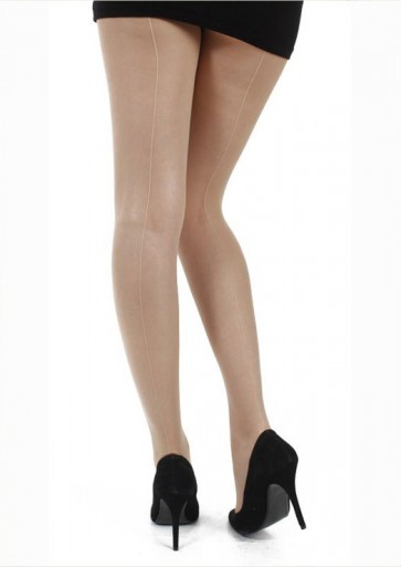 Jive Seamed Tights Nude With Nude Seam