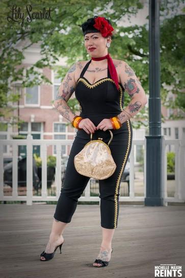 Patsy Jumpsuit Black & Gold