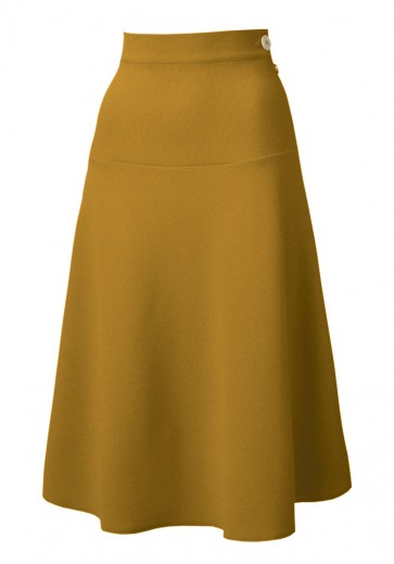1940s Swing Skirt Gold