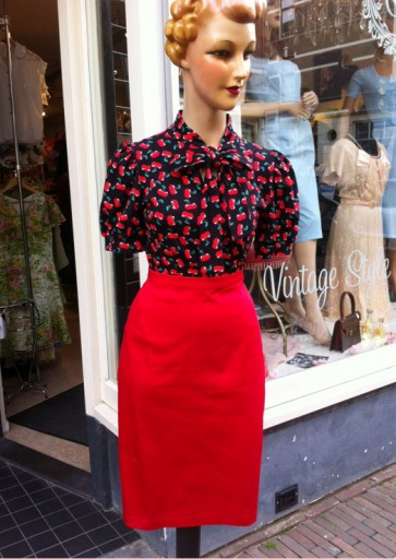Bettie Red Pencil Skirt