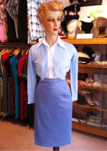 Bettie Blue Pencil Skirt