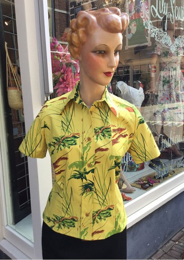 Cathy Short Sleeve Blouse Tropical Tigers