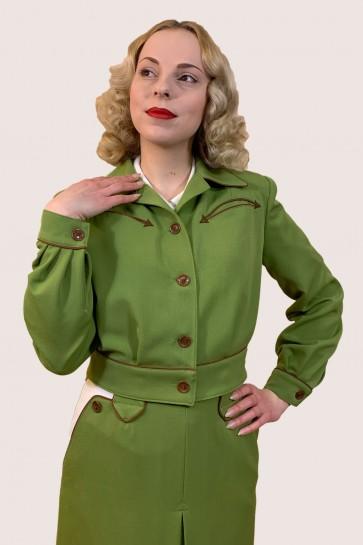 Lily-Mae Western Jacket Green