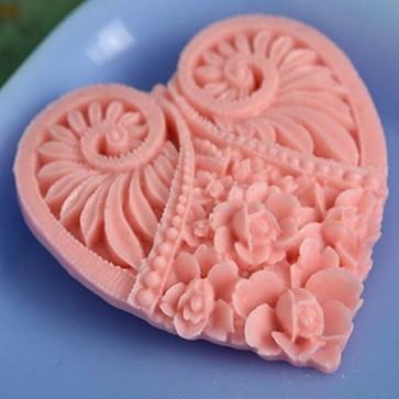 Meg Statement Heart Brooch Sherbert Pink