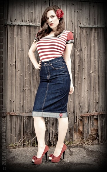 Perfect Denim Pencil Skirt