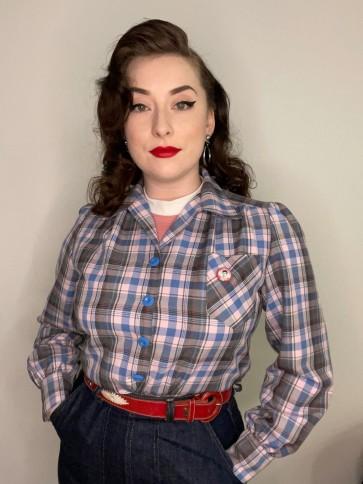 Pink and Blue Check Shirt