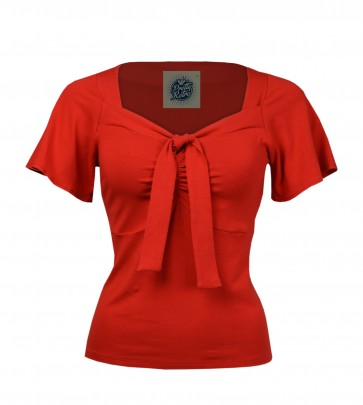 Pretty Tie Top Scarlet