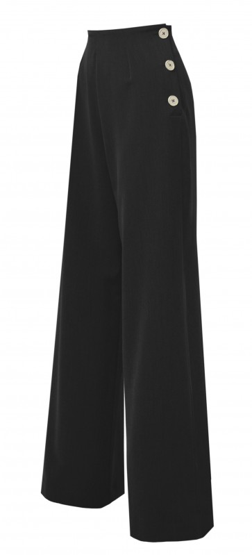 1940s Swing Pants Black