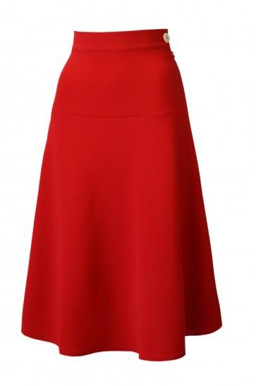 1940s Swing Skirt Red