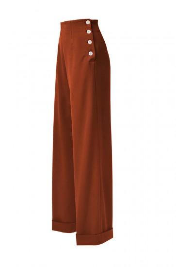 1940s Swing Trousers Rust