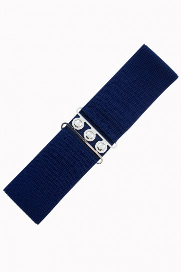 Vintage Stretch Belt Navy