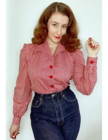 Wanda Blouse Red White