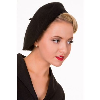 Vintage Claire Hat Black