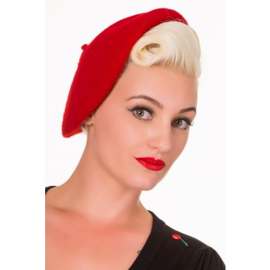 Vintage Claire Hat Red