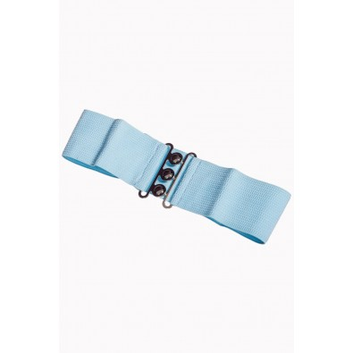 Vintage Stretch Belt Baby Blue