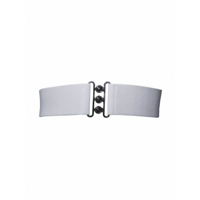 Nessa Cinch Belt White
