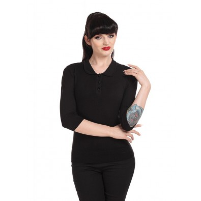 Jorgi Knitted Polo Black