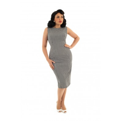Gabrielle Gingham Wiggle Dress