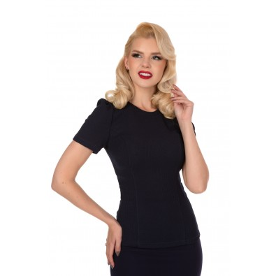 Susan Knitted Top Navy