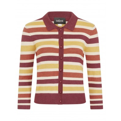 Enza Retro Striped Cardigan