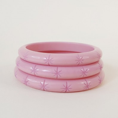Lucie Starburst Bangle Pale Pink