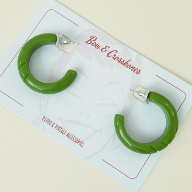 Pea Hoop Earrings Pear