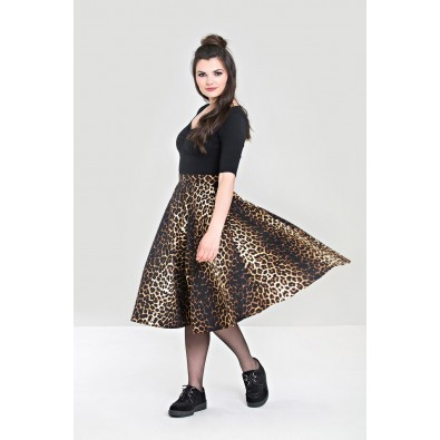 Panthera 50s Swing Skirt Leopard
