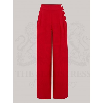 Audrey Trousers Red