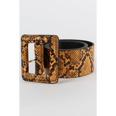 Becky Sleek Faux Snakeskin Waist Belt
