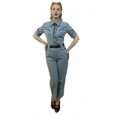 Lily-Mae Western Slacks Blue