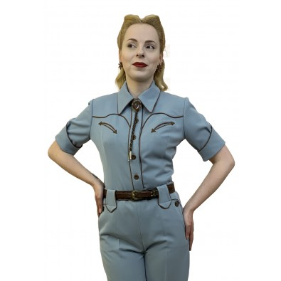 Lorraine Western Blouse Blue