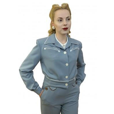 Lily-Mae Western Jacket Blue
