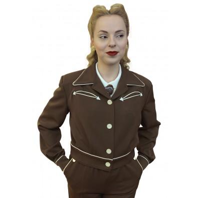 Lily-Mae Western Jacket Brown