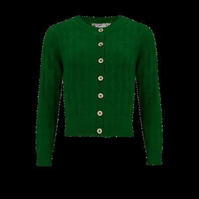 Sandra Textured Knit Cardigan Green