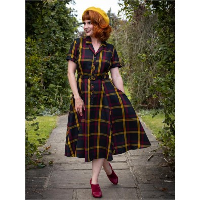 Caterina Giles Check Swing Dress