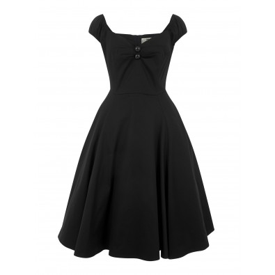 Dolores Doll Classic Swing Dress Black